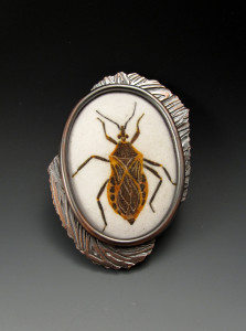 Kissing Bug Brooch_Charity Hall