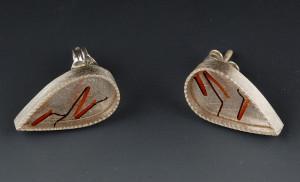 Orange bug legs post earringscropped
