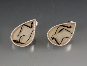 beetle legs earrings
