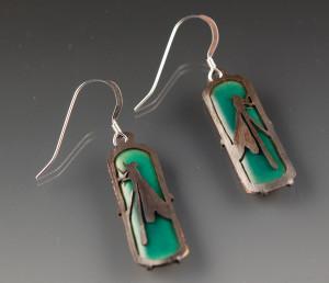 pierced insect earrings