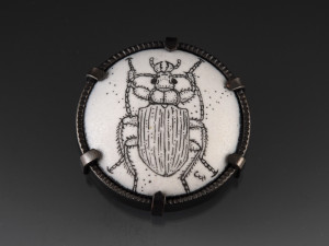 Ground Beetle Brooch_2014_small