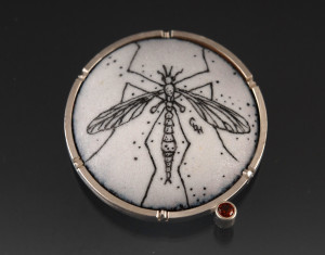 Crane fly brooch_2014