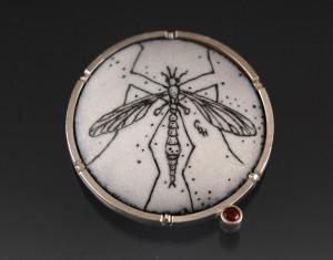 Crane fly brooch_2014