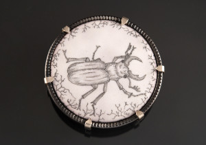 stag beetle brooch_2015_cropped