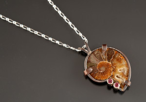 Ammonite garnet pendant_2015_DSC_0020_small