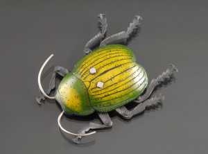 Green and Yellow Beetle Brooch_2_DSC_0317